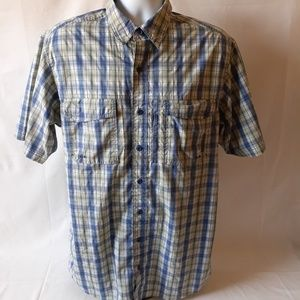 Red Head men's vented button down shirt